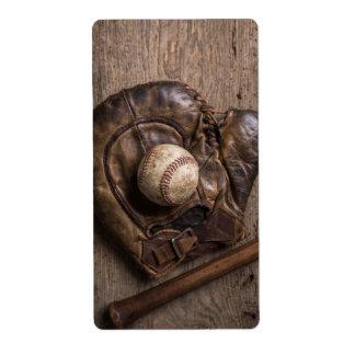 Étiquette Équipement de base-ball vintage