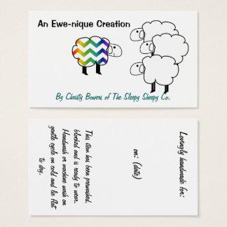 Étiquette et carte de visite de coup de moutons