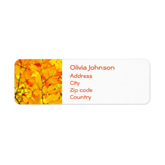 Étiquette Été indien de la Saint-Martin, feuille jaune