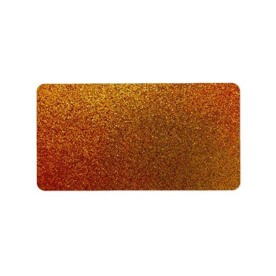 Étiquette Étincelle de cuivre d'arrière - plan de