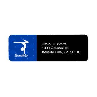 Étiquette Étoiles bleues de fille de gymnastique