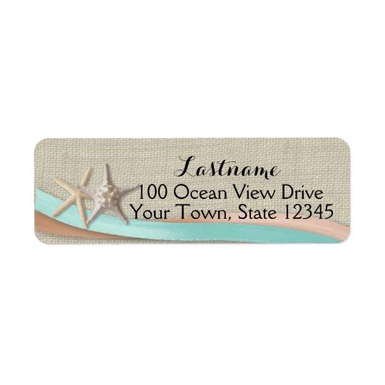 Étiquette Étoiles de mer et Aqua et pêche de ruban