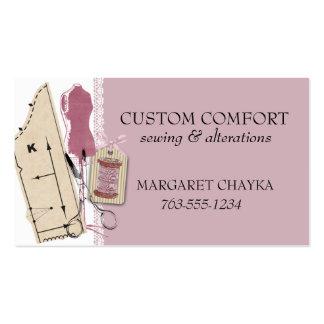 Étiquette factice de couture de cadeau de robe de carte de visite standard