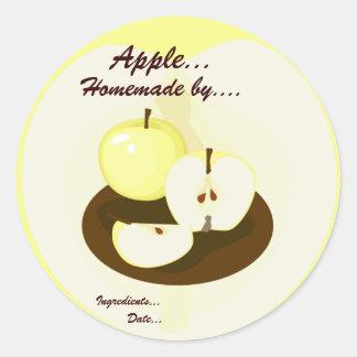 Étiquette fait maison de produit de pommes d'or