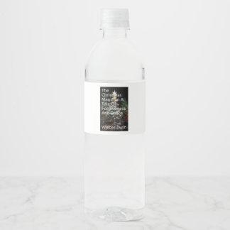 """Étiquette fait sur commande de bouteille d'eau (8"""""""
