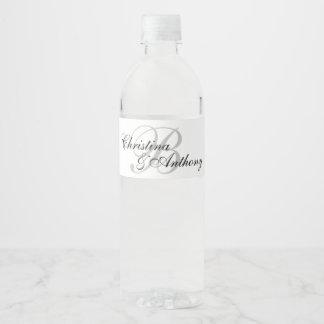 Étiquette fait sur commande de bouteille d'eau de