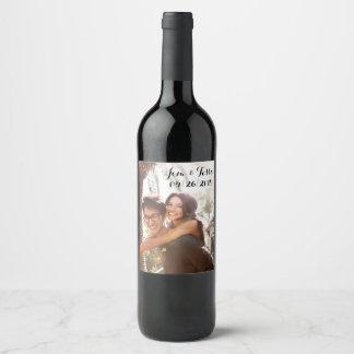 Étiquette fait sur commande de vin de mariage