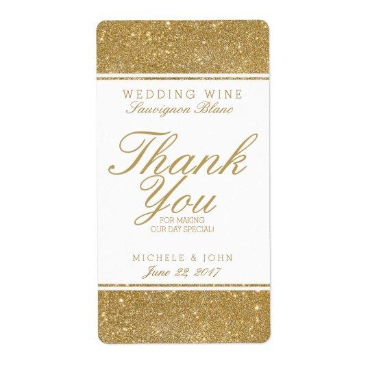 Étiquette fait sur commande de vin de mariage de