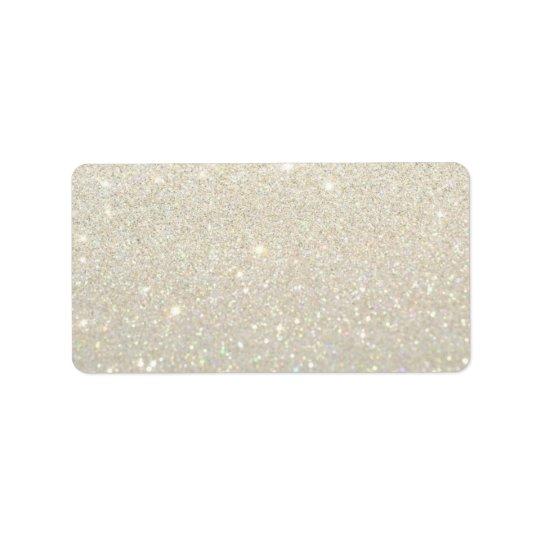 Étiquette fait sur commande - or blanc Glit