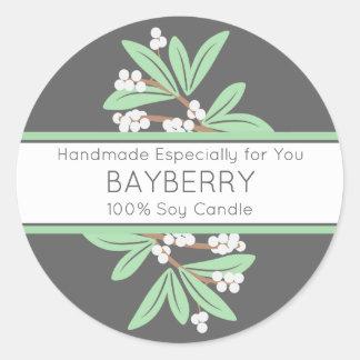 Étiquette faite main de cadeau avec le Bayberry