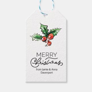 Étiquette faite sur commande de Noël avec des