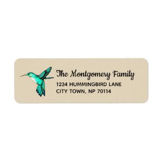 Étiquette Famille turquoise lunatique de colibri