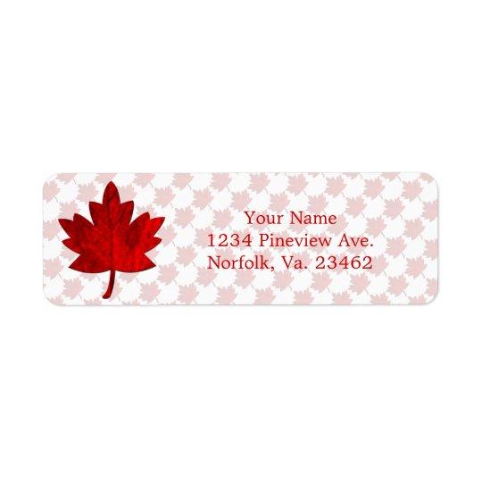 Étiquette Feuille de Canada-Érable par Shirley Taylor