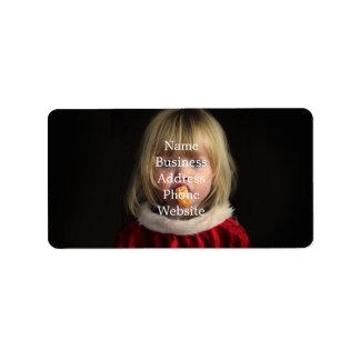 Étiquette Fille de Noël - enfant de Noël - fille mignonne
