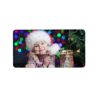 Étiquette Fille de Noël - petite fille - enfant de Noël