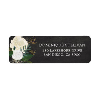 Étiquette Fleurs d'aquarelle et tableau de scintillement