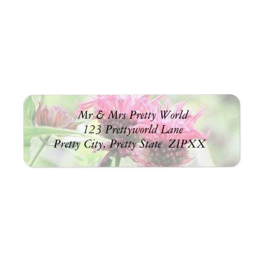 Étiquette Fleurs rouges de baume d'abeille