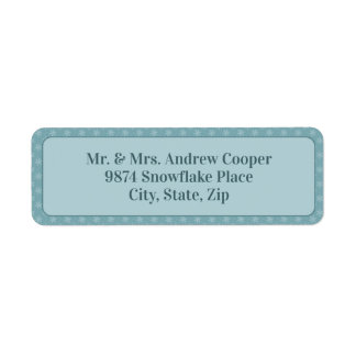 Étiquette Flocons de neige joyeux