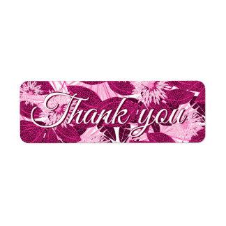 Étiquette Floral repéré par rose tropical