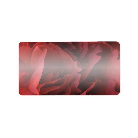 Étiquette Floral rouge