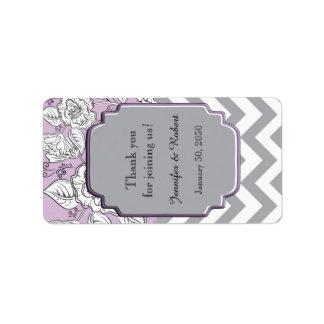 Étiquette floral vintage de baume à lèvres de