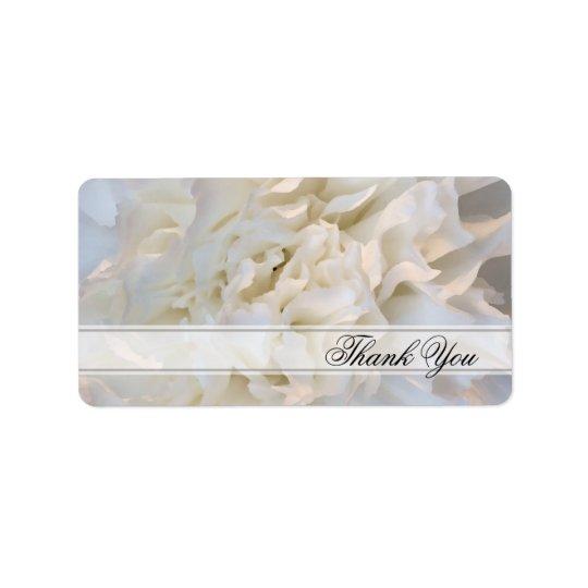 Étiquette florale de faveur de Merci de mariage