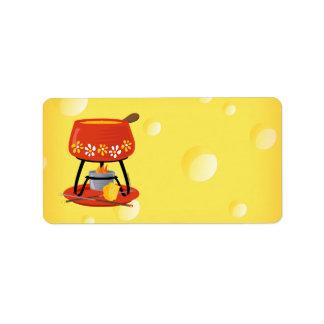 Étiquette Fondue de fromage