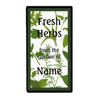 Étiquette frais de nourriture d'herbes