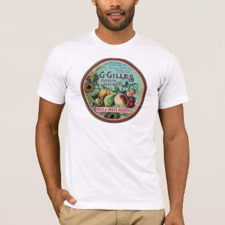 Étiquette français vintage de fruit t-shirt