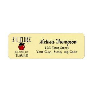 Étiquette Futur professeur Apple d'obtention du diplôme