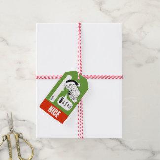 Étiquette gentille ou vilaine de cadeau de Noël de