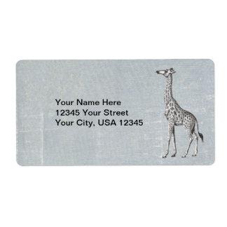 Étiquette Girafe vintage