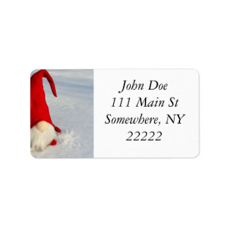 Étiquette Gnome scandinave de Noël