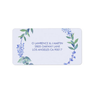 Étiquette Guirlande florale de ressort pourpre