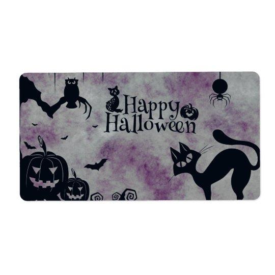 Étiquette Halloween heureux
