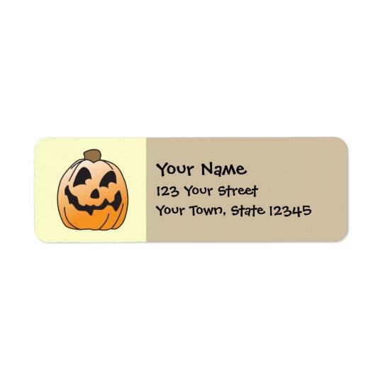 Étiquette Halloween heureux Jack-o'-lantern