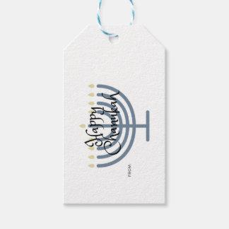 Étiquette heureuse de cadeau de Chanukah