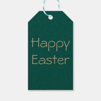 Étiquette heureuse de Pâques, étiquette de cadeau,