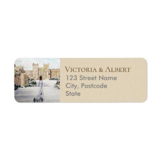 Étiquette Hiver au mariage de peinture de château de Windsor