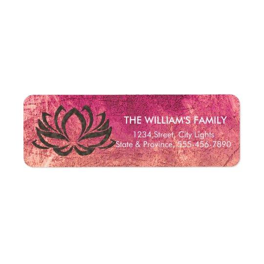 Étiquette Holistique floral de méditation de yoga de fleur