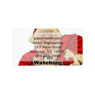 Étiquette Illustration de observation d'Im vous-père Noël