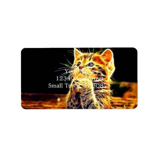 Étiquette Illustrations du chat 3d
