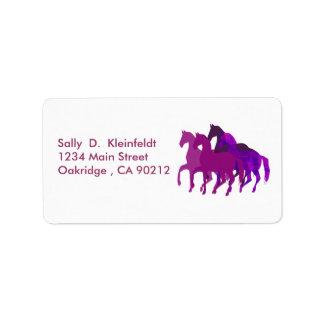 Étiquette Imaginaire pourpre de chevaux