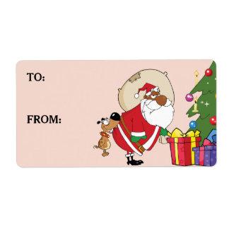 Étiquette imprimé par Père Noël noir de mauvaises Étiquette D'expédition