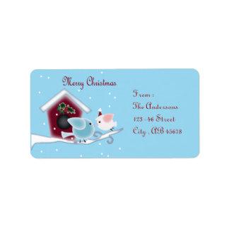 Étiquette inséparables de baiser de gui notre premier Noël