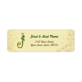 Étiquette irlandais du monogramme J d'or