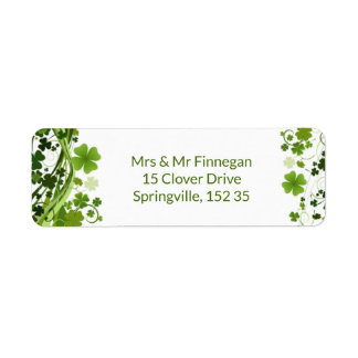 Étiquette Irlandais Shanrock (trèfle)