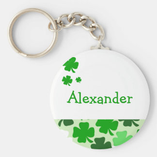 Étiquette irlandaise de faveur ou de nom de porte-clé rond