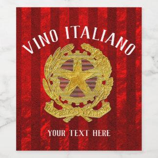 Étiquette italien de vin