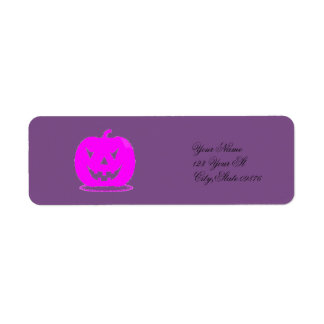 Étiquette Jack rose Halloween o'lantern Thunder_Cove